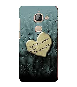 PrintVisa Romantic Love Quotes 3D Hard Polycarbonate Designer Back Case Cover for LeEco 2S