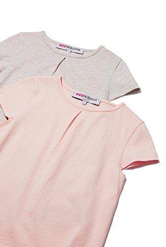 RED WAGON Mädchen T-Shirt im 2er-Pack, Rosa (Pink), 104 (Herstellergröße: 4 Jahre)