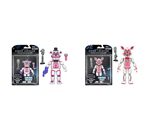 Mozlly Value Pack - Funko Five Nights at Freddy's Sister Location Funtime Freddy 5 inch Action Figure AND Five Nights at Freddy's Sister Location Funtime Foxy 5 inch Collectible Toy - Item #K120061-120062