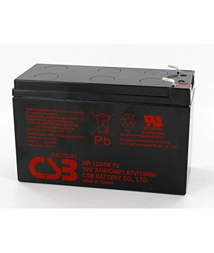 CSB Battery - Batterie plomb 12V 9Ah CSB HR1234W - HR1234W