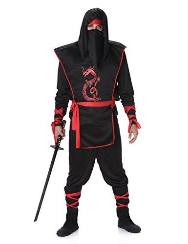 Karnival Costumes  - Ninja-Kostüm für Herren Taille (Kostüme Ninja Herren)
