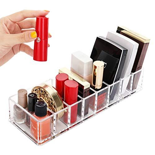 8 Grilles Boîte de Rangement de Maquillage Cosmétique Rouge À Lèvres Porte-Boîtier Présentoir Support À Lèvres Brillant Organisateur