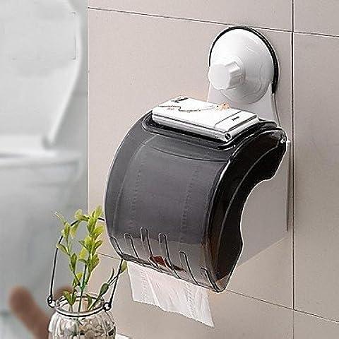 Potente aspiratore wc porta bobina/impermeabile carta igienica telaio con coppa di aspirazione