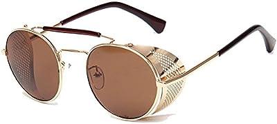 linyuan verano gafas lente Ronda Cyber Goggles Gafas de sol retro vintage Steampunk A056#
