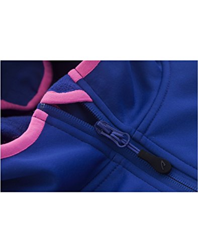 aparso Damen Softshell Funktion Übergangsjacke mit Kapuze und Fleece-Innenfutter (L, Blau) - 4