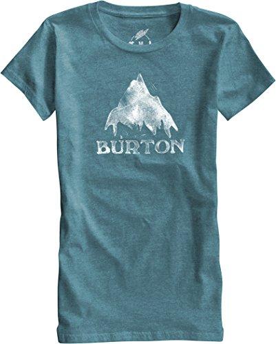Burton-Maglietta da donna a maniche corte modello stmdmtn RPET, Donna, T-Shirt WB Short Sleeve RPET, Teal Heather, L