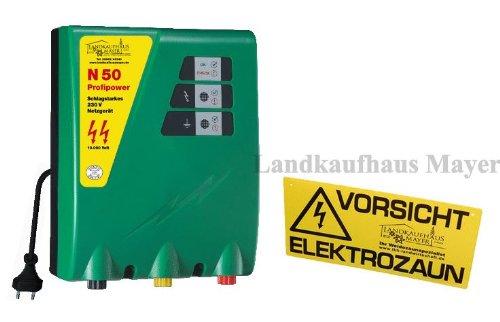 *Weidezaungerät N 50 230 Volt, extrem schlagstark mit 7,0 Joule Ladeenergie für sehr lange Zäune mit 2 Zaunausgängen*