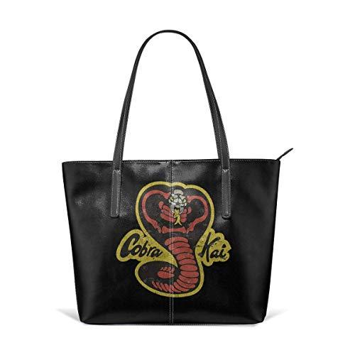 Mode Handtaschen Einkaufstasche Top Griff Umhängetaschen Women's Hand Bag Waterproof Crossbody Bags Ladies Single Shoulder Cowhide Evening Purses Party Bags Printed with Cobra Kai Vintage