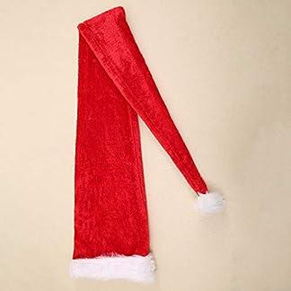 Fiesta de Navidad Papá Noel Sombrero Largo Terciopelo Rojo Blanco Gorra Traje Navidad Niños Adultos Navidad Estilo Largo Sombreros Suministros de Navidad