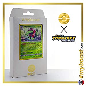 Méganium 8/214 Holo Reverse - #myboost X Soleil & Lune 8 Tonnerre Perdu - Box de 10 Cartas Pokémon Francés
