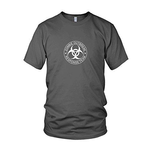 onse Team - Herren T-Shirt, Größe: L, Farbe: grau (28 Days Later Halloween Kostüm)