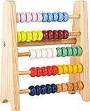 """small foot 11168 Regola di scorrimento per andare """"Educare"""" in legno, con 5 file di 10 perline ciascuna per contare, da 6 anni in poi."""