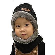 UMIPUBO Sciarpa e Beanie Bambini Unisex in Maglia Beanie Inverno Caldo  Fodera Cappellino Invernale Cappelli c2e4929e1b65