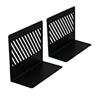 Wrought Iron Bookend Twill Square Bookends are Durable for Office and Bookcases 1 Pair