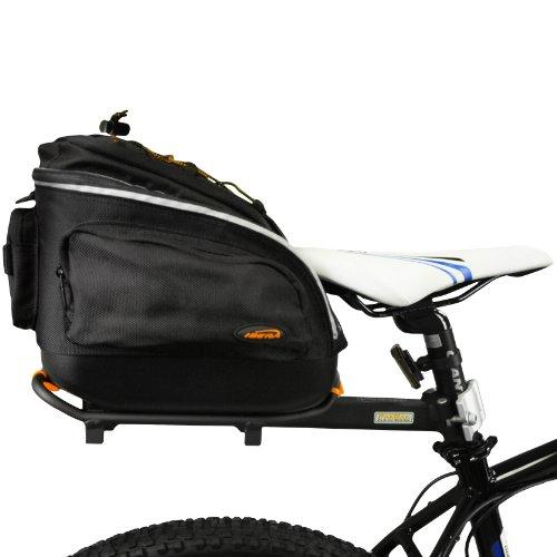 Ibera Fahrrad Mini Gepäckträgertasche + Gepäckträger Set, Quick-Release PakRak Mini Combo Set (10 Combo Pack Kompatibel)