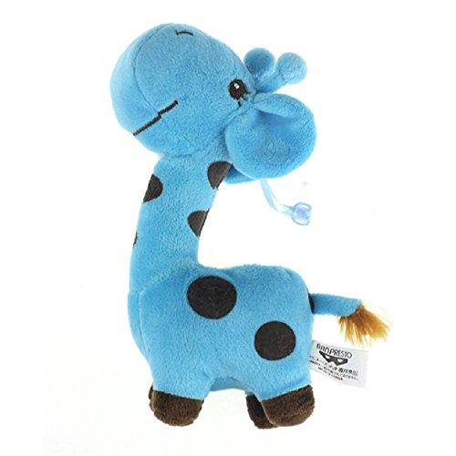 Auxma Jirafa Ciervo Juguete de Peluche suave Animal Muñeca para Bebé Fiesta de Cumpleaños Regalo (Azul)