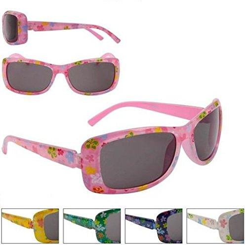 Flower Sunglasses Girls Childrens Kids Toddlers Pretty 100% UV Protection Age Range 4-9 years