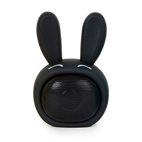 Mobility On Board Altavoz Inalámbrico Bluetooth - Compacto, Diseño Conejito Negro con...