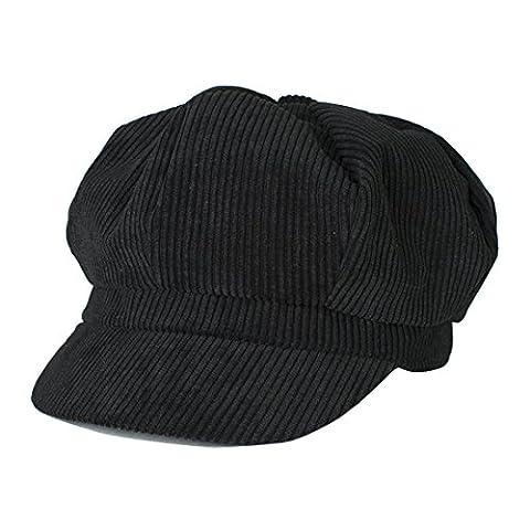 Beret Femme Noir - Kuyou Chapeau Hiver Femme Bonnet Tricoté Chaud