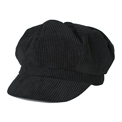 Kuyou Winter Gatsby Newsboy Barett Cap Schirmmütze Kappe Hut (Schwarz)