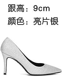 FLYRCX Zapatos de Tacón delgado sexy mujer de personalidad fuerte y única parte zapatos Zapatos,37,un
