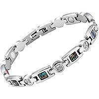 JOVIVI Damen Magnetarmband Edelstahl Magnetische Armband Zirkonia Abalone Muschel Armreif 4-in-1 Magnete Armband... preisvergleich bei billige-tabletten.eu