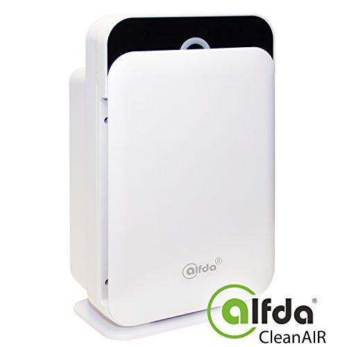 HEPA Luftreiniger mit Ionisator, HIMOP-Filter alfda ALR300 Comfort leise 300 m3/h mit Luftsensor, Fernbedienung