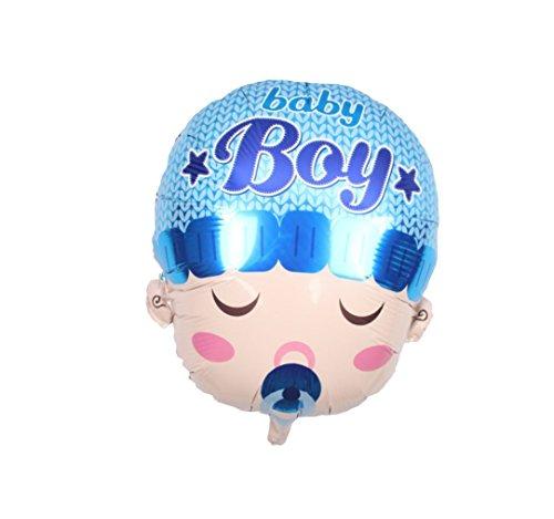(RepairMedia-Shop RM★ Folienballon P039 Baby Boy Birthday Geburtstag Babyshower Welcome Helium Folien Aluminium Ballon Luftballon Junge Bub Blau mit Schnuller und Mütze ★RM★)