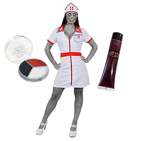 Maquillage Halloween Pour Les Filles - Déguisement pour femme avec cette tenue d'infirmière