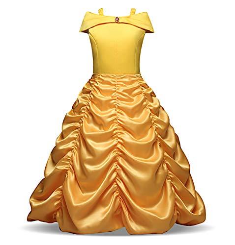 Simile bella e la bestia abito costume carnevale bambina simil belle girl dress bellez04 (150)
