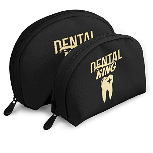 Gifts For Dentists Dental Student Shell Portable Bags Clutch Pouch Cosmetic Makeup Bag Pouch 2Pcs