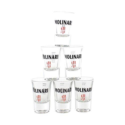 Molinari Gläser 6er Set geeicht bei 2cl Shot Glas ~mn 731 6h1r