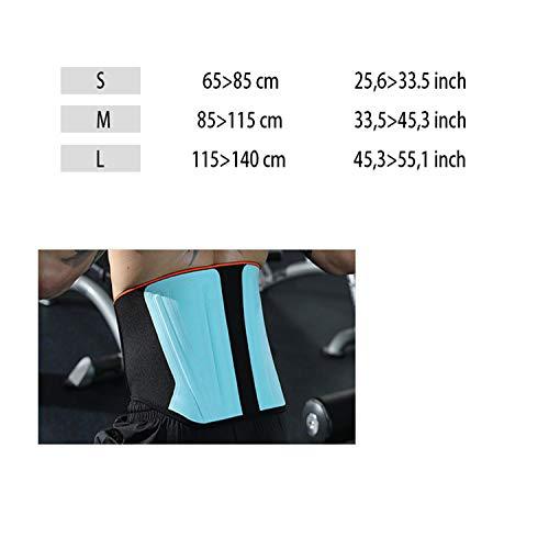 LY-JFSZ Rückenbandage,Deluxe Lumbal Brace Support Übung Fitnesstraining Gewichtheben Gürtel Spine Injury Prevention, 3 Größen, Schwarz