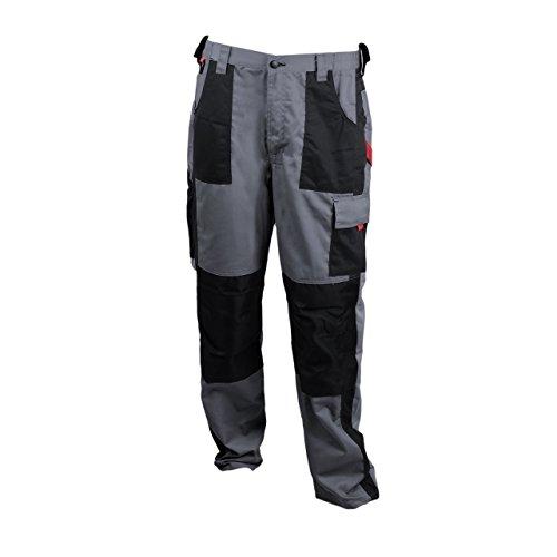 Robuste Herren Arbeits-Bundhose mit schwarzen Taschen, Grau, Größe:XXL
