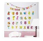 26 English Alphabet Decorative Wall Stickers For Children Bedroom Kindergarten Wall Decor Small Size