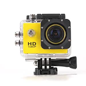 Novatek 1080P 30fps 12MP H.264 1.5 Inch 170° Outdoor Waterproof Sports Home Security HD DV/CAR DVR/Camera recorder (Yellow)