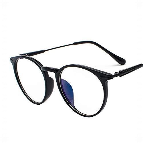 Polarisierte Sonnenbrille mit UV-Schutz Männer und Frauen Retro Gesicht Brille Großen Rahmen Flachen Spiegel Clear Lens Frame Glasses. Superleichtes Rahmen-Fischen, das Golf fährt ( Farbe : Schwarz )