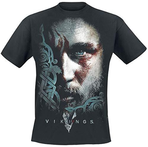 Vikings Ragnar Face Camiseta Negro M