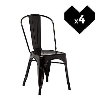 SKLUM Lot de 4 Chaises LIX Noir - (Plus de Couleurs)