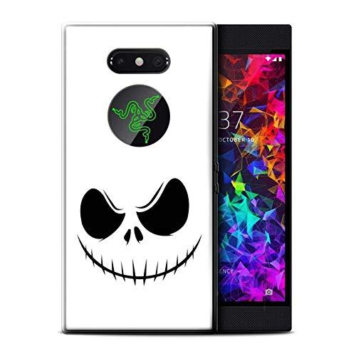 (eSwish Gel TPU Hülle/Case für Razer Phone 2 / Jack Skellington Inspiriert Kunst Muster/Grusel Filmkunst Kollektion)