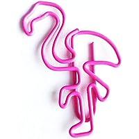 10pcs Creative Cute Flamingo Bookmark Clip Metal Paper Clip Storage Folder School Office Supply Students Stationery