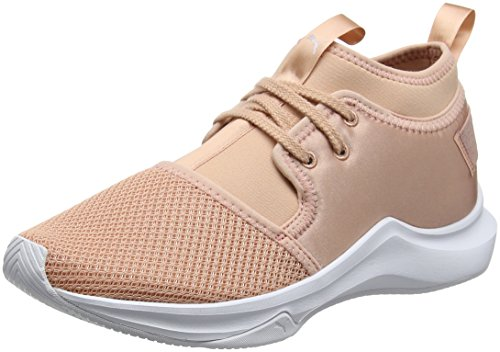 Puma Damen Phenom Low Satin EP Wn's Cross-Trainer, Beige (Peach Beige White), 40 EU (Beige Trainer)