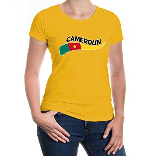 buXsbaum® Girlie T-Shirt Kamerun-Wave Sunflower-z-direct