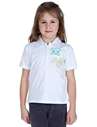 La Martina Polo Shirt Kids Hawaiian flower white logo + LM-D42