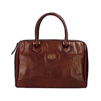 The Bridge Leather Barrel bag STORY DONNA Woman hand bag brown 04852901/14