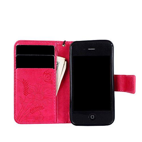 ZeWoo Folio Ledertasche - R158 / Ameisen aus (grau) - für Apple iPhone 4 4G 4S (3.5 Zoll) PU Leder Tasche Brieftasche Case Cover R163 Plum Blume