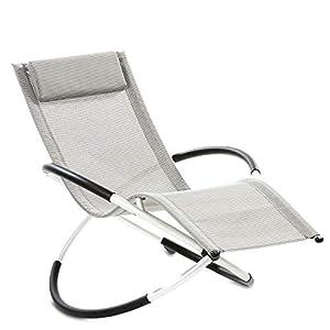 maxVitalis Relax Liegestuhl Klappbar Campingstuhl/Campingliege + Fußteil (abnehmbar) 120 Kg, Kopfpolster, Armlehne…