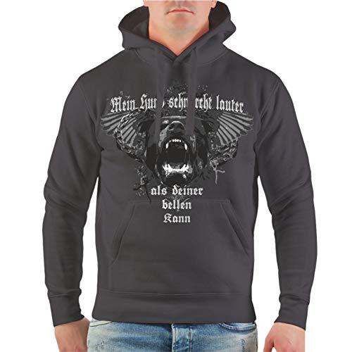 dog like a boss Männer und Herren Kapuzenpullover Mein Hund schnarcht lauter als deiner bellen kann Größe S - 8XL