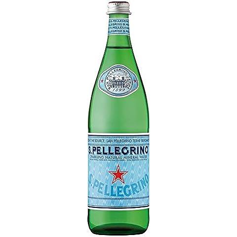 San Pellegrino espumoso mineral de cristal de 750 ml de agua de la botella