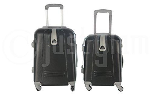Trolley da cabina valigia rigida 4 ruote in abs policarbonato antigraffio e impermeabile compatibile voli lowcost come Easyjet Rayanair art 6802 / piccola nero
